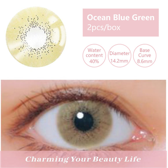Bella Yearly Color Contacts Ocean Blue Green (2pcs/box)