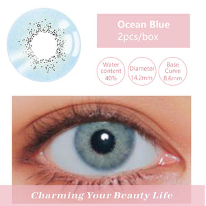 Bella Yearly Color Contacts Ocean Blue (2pcs/box)