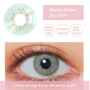Bella Yearly Color Contacts Ocean Green (2pcs/box)