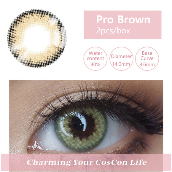 Bella Yearly Color Contacts Pro Brown (2pcs/box)