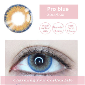 Bella Yearly Color Contacts Pro blue(2pcs/box)