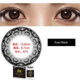 Weicon one piece size diameter mixed blood disposable half yearly color cotact lenses Eyes Black
