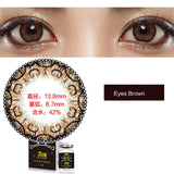 Weicon one piece size diameter mixed blood disposable half yearly color cotact lenses Eyes Brown