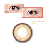 Japan Femii size diameter disposable daily color contact lenses French Orange Brown
