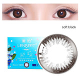 LENBERT natural mixed blood disposable daily color contact lenses  soft black