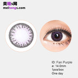 Bausch & Lomb Lacelle disposable daily color contact lenses Fan Purple