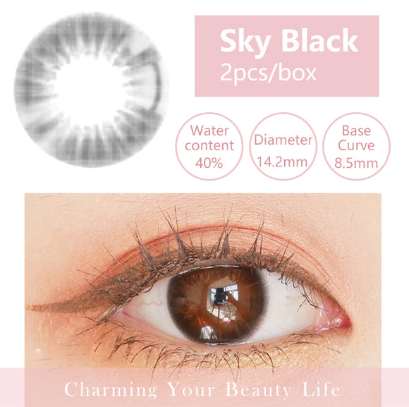 Bella Yearly Color Contacts Sky Black (2pcs/box)