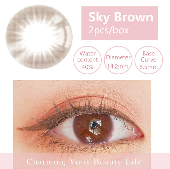 Bella Yearly Color Contacts Sky Brown(2pcs/box)