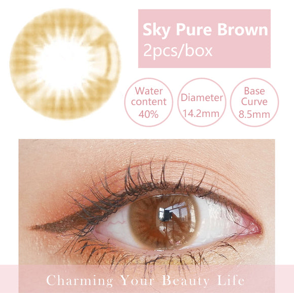 Bella Yearly Color Contacts Sky Pure Brown (2pcs/box)