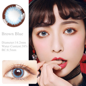RNTO Yearly Color Contacts Brown Blue (2pcs/box)