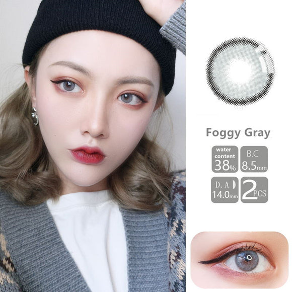 VISSMON yearly Contact Lenses Foggy Grey (2pcs/box)