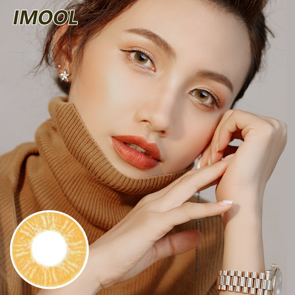 IMOOL Queen series quarterly mysterious brown colored contacts