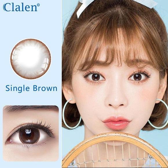 Korea girl style clalen iris disposable daily colored contact lenses 30pcs Brown