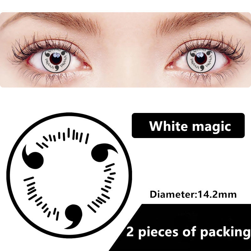 Halloween & cosplay Yearly Color Contacts White magic (2pcs/box)