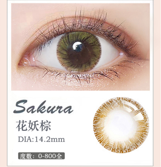 MiaoMou yearly Contact Lenses Bloom Brwon (2pcs/box)