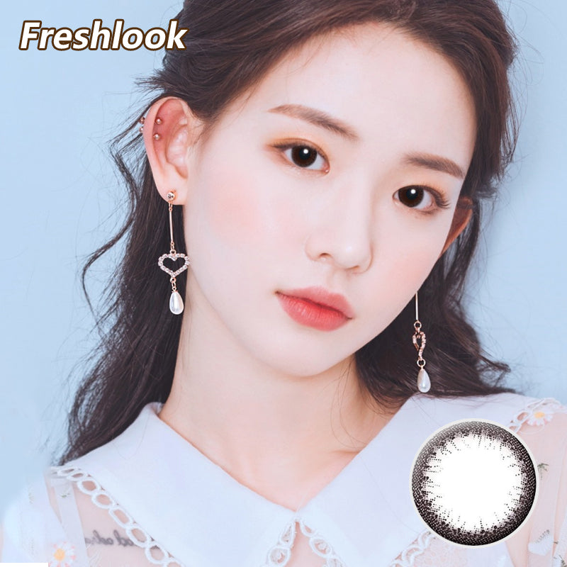 Freshlook Illuminate small diameter 13.8mm disposable daily color contact lenses Black