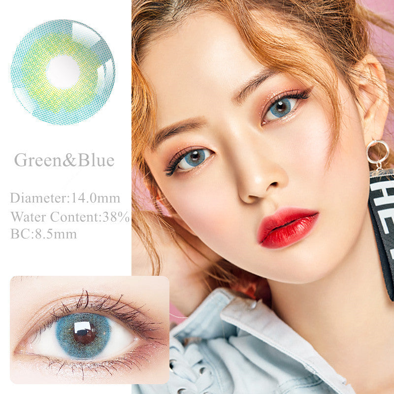 RNTO Yearly Color Contacts Green&Blue (2pcs/box)