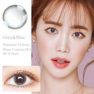 RNTO Yearly Color Contacts Grey Blue (2pcs/box)