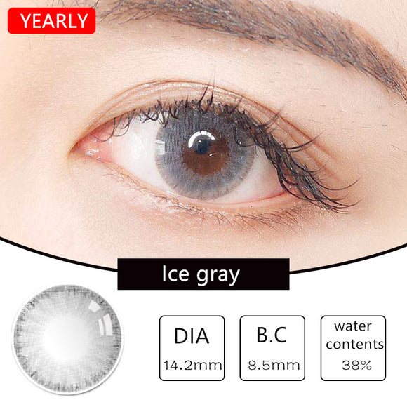 MiaoMou yearly Contact Lenses Ice Grey (2pcs/box)