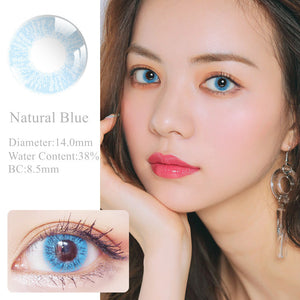 RNTO Yearly Color Contacts Natrual Blue (2pcs/box)