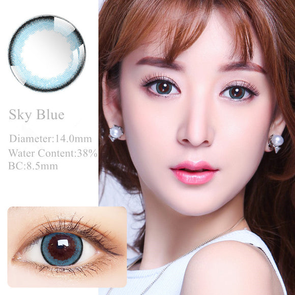 RNTO Yearly Color Contacts Sky Blue (2pcs/box)