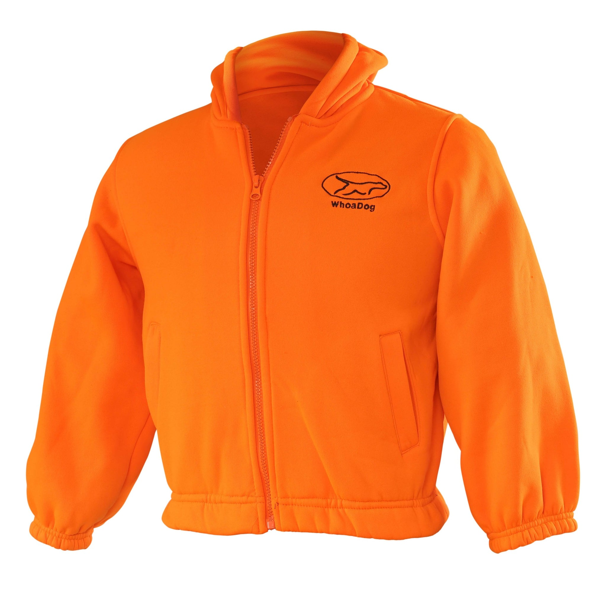 Zip-Up Hoodie Jacket (Blaze Orange)