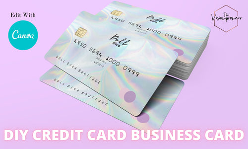 DIY Credit Card Business Card (Digital Download)
