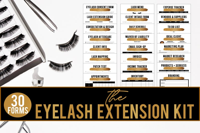 Eyelash Extension Business Forms// Eyelash Consent Form// Eyelash Technician Waiver Form// Consultation + Design Form// Lash Mapping// Patch