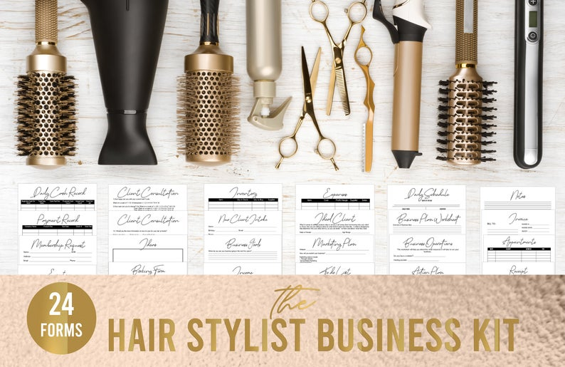 Hair Stylist Business Kit// Hair Stylist Business Forms// Hair Stylist Forms// Printable Business Forms// Hair Stylist Forms// Business Plan