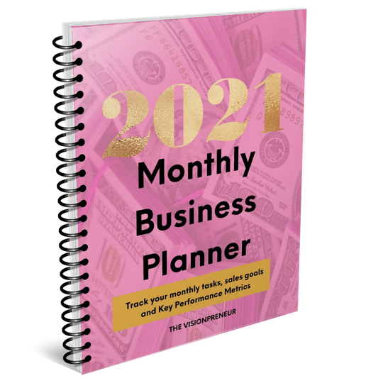 2021 Monthly Business Planner (Digital Download)