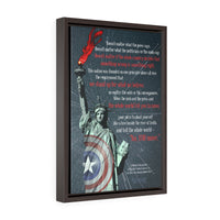 "Captain America ""No You Move"" Vertical Framed Premium Gallery Wrap Canvas"