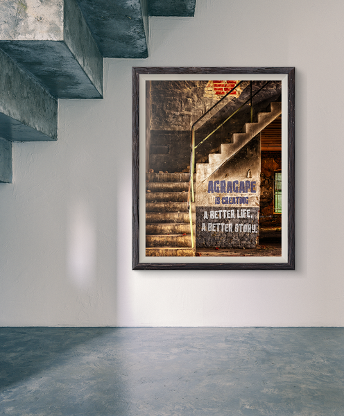 Better Life, Better Story Staircase Poster