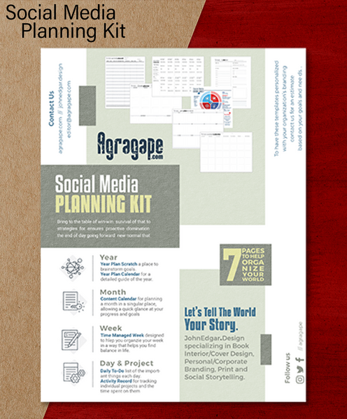 Social Media Content Planning Kit - Printable