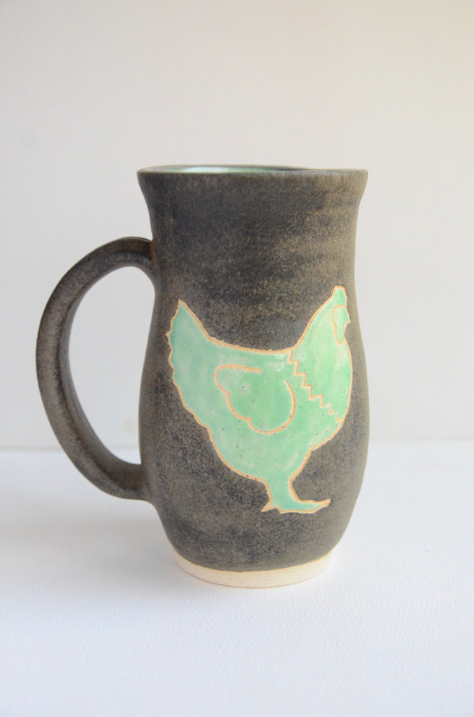 Mint & Charcoal Chicken Mug