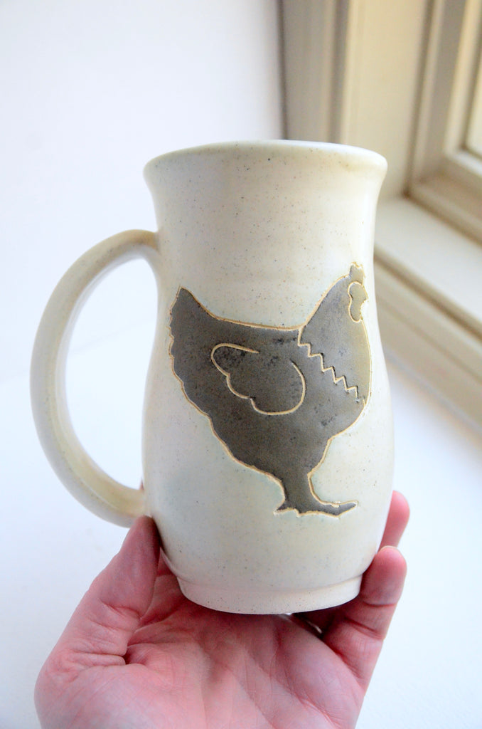 *PREORDER* Ivory & Charcoal Chicken Mug