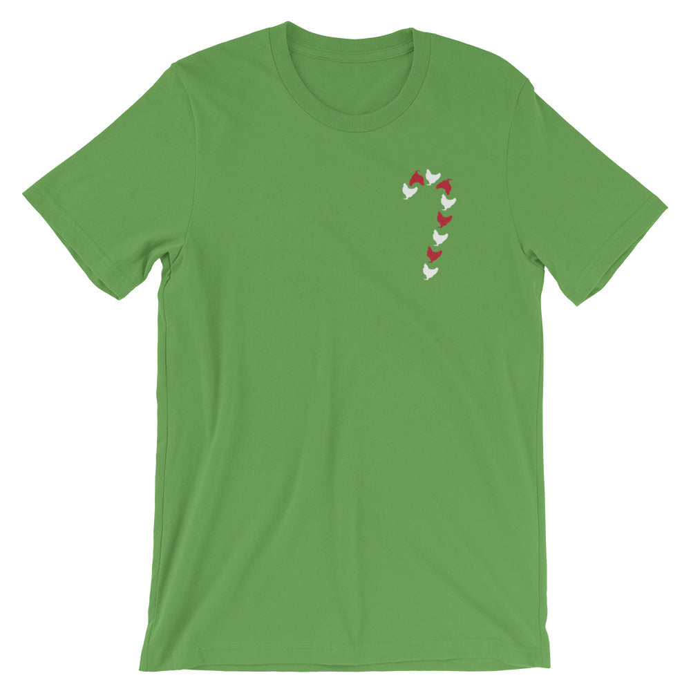 Chicken Candy Cane Tee