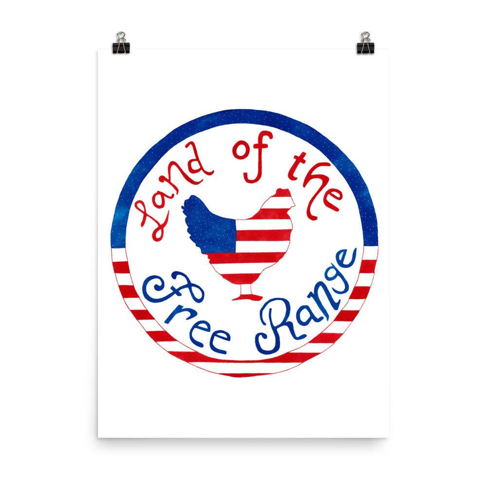 Land of the Free Range Art Print