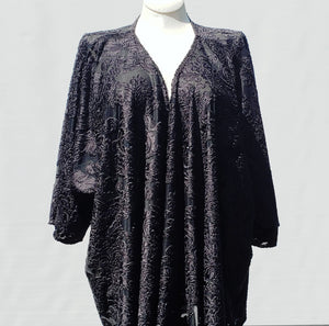 Floral Black Burnout Velvet Wrap Top
