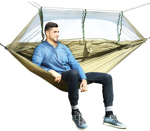 Camping Hammock with Mosquito Net Portable