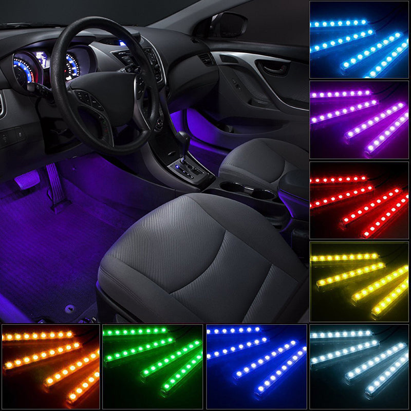 Multi Color LED Car Interior Underdash Lighting Kit