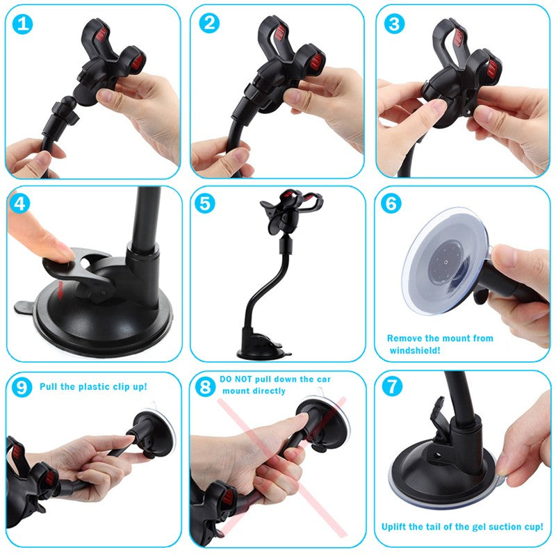 Flexible 360 Degree Adjustable Car Mount Phone Holder