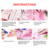 5D DIY Diamond Painting By Number Kit