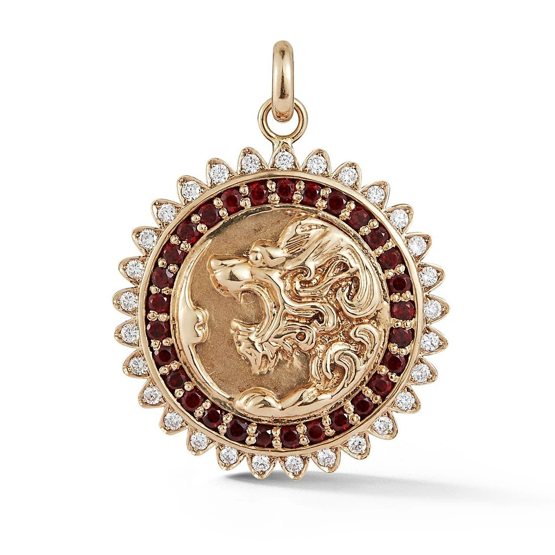 Gemstone Victorian Lion Medallion
