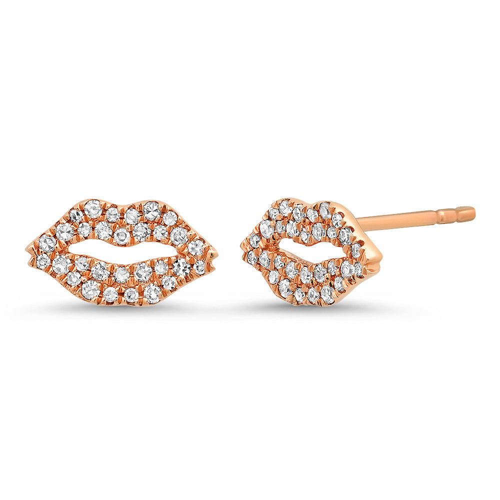 diamond lip studs