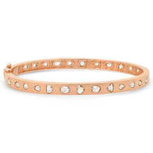 rosecut diamond bangle cuff