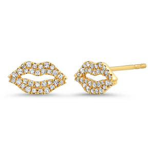 Pave Diamond Kisses Lip Studs