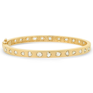 Rosecut Diamond Cuff Bangle Bracelet