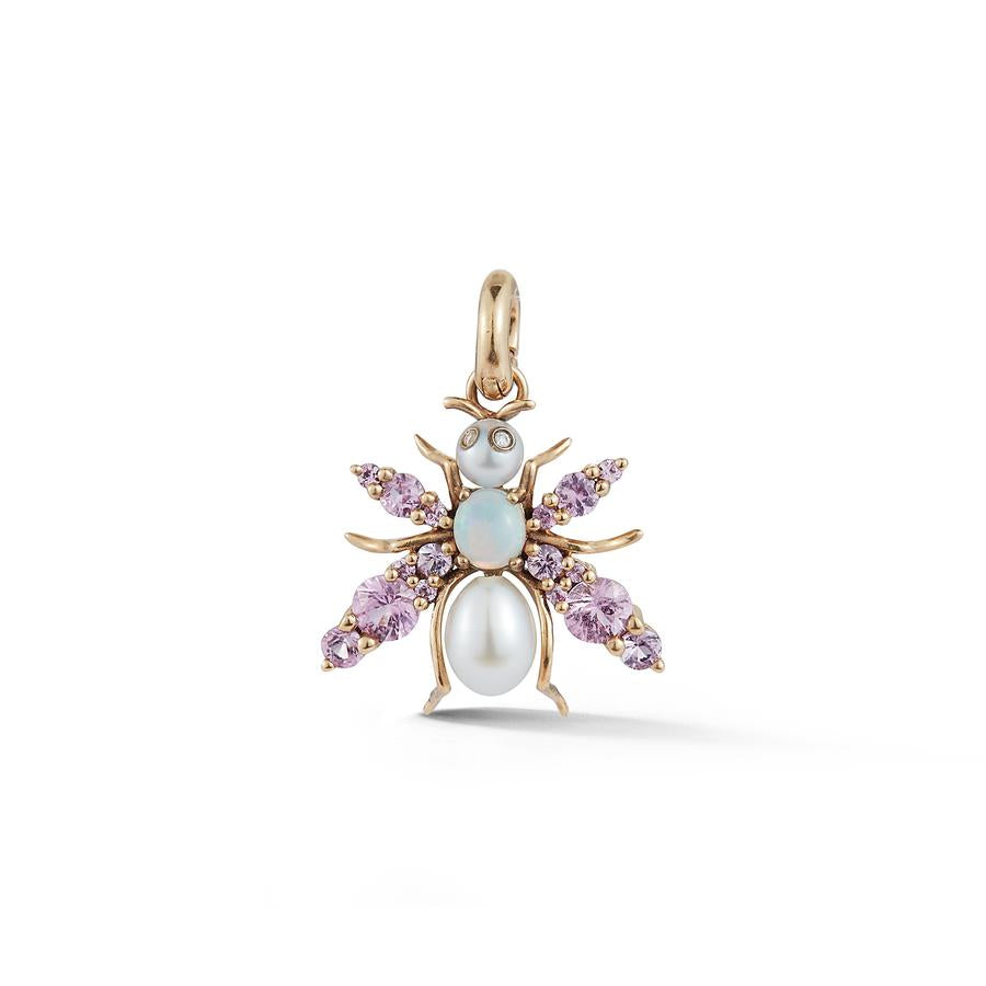 Gemstone Bee Charm Pendant