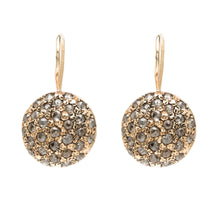 Diamond Round Pebble Drop Earring