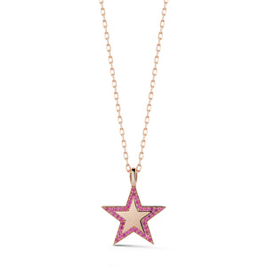 The Ashleigh Bergman Collective x Walters Faith Pink Sapphire Edge Large Star Charm
